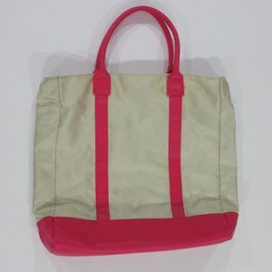 Vince Camuto Pink and Cream Nylon Tote